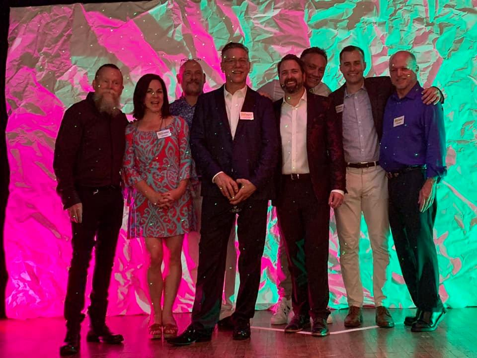 Members of Change the Channel Production, including David Boyd, Laura Kayser, Anthony Byrnes, Brent Quam, David Young, Ted Ellet, Greg Gilchrist